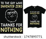 the guy who invented zero ...   Shutterstock .eps vector #1747895771