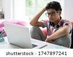 Teenage Boy Having Online Class