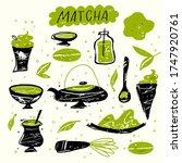 matcha. vector doodle... | Shutterstock .eps vector #1747920761