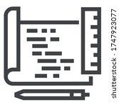 programming black line icons on ... | Shutterstock .eps vector #1747923077