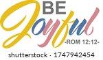 be joyful romanians 12 12 bible ... | Shutterstock .eps vector #1747942454