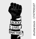 protest poster with text blm ... | Shutterstock .eps vector #1747950107