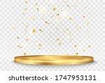 golden confetti falls on a...   Shutterstock .eps vector #1747953131