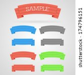 set of color retro ribbons | Shutterstock . vector #174796151