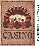 Old Vintage Casino Invitation...