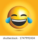 high quality emoticon on yellow ... | Shutterstock .eps vector #1747992434