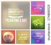valentine's day golden badge... | Shutterstock .eps vector #174800525