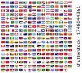 287 country flag vector  flat... | Shutterstock .eps vector #1748044361