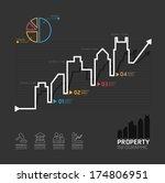 real estate business diagram...   Shutterstock .eps vector #174806951