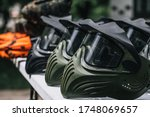 Closeup photo of paintball gear ...