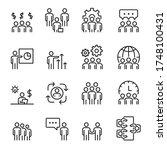 people icons  vector line set ... | Shutterstock .eps vector #1748100431