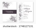 set of modern berry floral... | Shutterstock .eps vector #1748127131