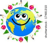 christmas globe | Shutterstock . vector #17481310
