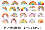 cartoon rainbow. colourful... | Shutterstock .eps vector #1748153474