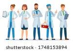 doctors team. healthcare... | Shutterstock .eps vector #1748153894