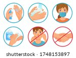 prevention of coronavirus... | Shutterstock .eps vector #1748153897