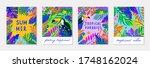 bundle of summer vector... | Shutterstock .eps vector #1748162024