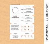 modern curriculum vitae cv... | Shutterstock .eps vector #1748169404