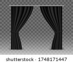 vector black curtains isolated... | Shutterstock .eps vector #1748171447