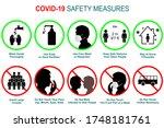set of corona virus covid 19... | Shutterstock .eps vector #1748181761