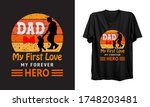 dad my first love my forever... | Shutterstock .eps vector #1748203481