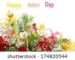 bouquet of flowers on white | Shutterstock . vector #174820544