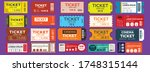 ticket mega set  vector... | Shutterstock .eps vector #1748315144