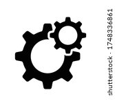 gear settings icon eps 10  gear ... | Shutterstock .eps vector #1748336861