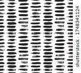 grunge dash lines vector... | Shutterstock .eps vector #1748341124