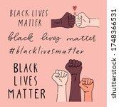 black lives matter hand written ... | Shutterstock .eps vector #1748366531