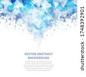 vector abstract background with ... | Shutterstock .eps vector #1748392901