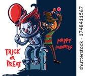 horror cartoon characters for... | Shutterstock .eps vector #1748411567