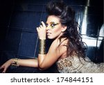 portrait of a girl | Shutterstock . vector #174844151