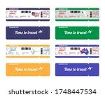 set of vector airline boarding... | Shutterstock .eps vector #1748447534