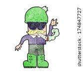 cartoon man smoking pot | Shutterstock . vector #174847727
