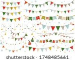 cute garland in winter colors | Shutterstock .eps vector #1748485661