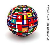 planet flags. 3d | Shutterstock . vector #174849119