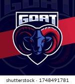 goat capricorn mascot esport...   Shutterstock .eps vector #1748491781