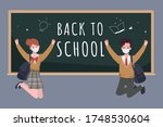 student back to school with new ... | Shutterstock .eps vector #1748530604