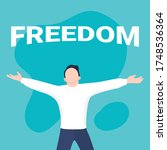 freedom concept. the concept of ... | Shutterstock .eps vector #1748536364