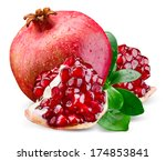 juicy pomegranate and its piece ... | Shutterstock . vector #174853841