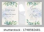 elegant watercolor wedding...   Shutterstock .eps vector #1748582681