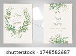 elegant wedding invitation card ...   Shutterstock .eps vector #1748582687