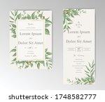 elegant wedding invitation card ...   Shutterstock .eps vector #1748582777