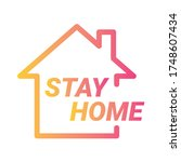 stay home symbol. stay home...   Shutterstock .eps vector #1748607434