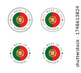made in portugal vector badge. | Shutterstock .eps vector #1748613824
