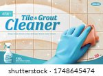 ad template for tile and grout... | Shutterstock .eps vector #1748645474