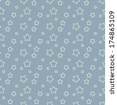 seamless blue pattern with... | Shutterstock . vector #174865109