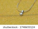 Diamond Necklace On Gold...