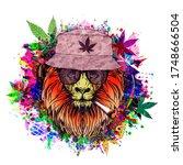 Rastafari Lion Illustration...